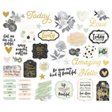 Beautiful Bits & Pieces Die-Cuts 40/Pkg with Foil Accents
