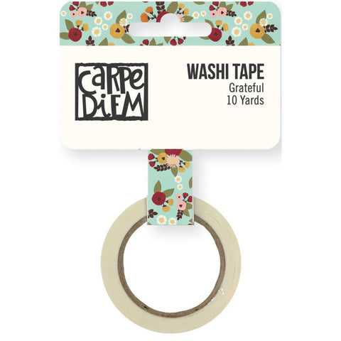 Grateful Vintage Blessings Washi Tape Flower