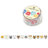 Shiba Inu Washi Tape • Dog of Japan Masking Tape • Japanese Washi Tape Die Cut Tape