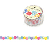 Fluffy Dot Masking Tape • Japanese Washi Tape Die Cut Tape