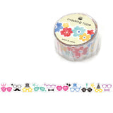 Glasses Party Masking Tape • Glasses Die Cut Tape • Japanese Washi Tape