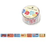 Label Ticket London Bus Ticket Die Cut Tape • Japanese Washi Tape