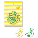 Banana Paper Clips (18pcs) Mind Wave Fruit Paper Clips