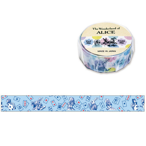 The Wonderland Of Alice Chase Blue Washi Tape • Mind Wave Japanese Washi Tape