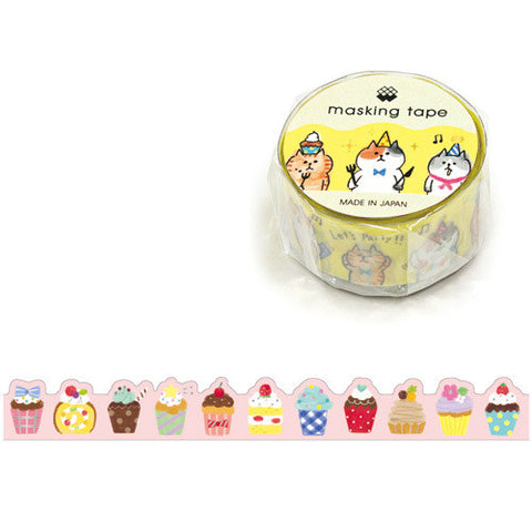 Cupcake Washi Tape • My Cake Japanese Washi Tape Die Cut Gold Foil Tape