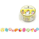 Candy Washi Tape • Sweet Japanese Washi Tape Die Cut Gold Foil Tape
