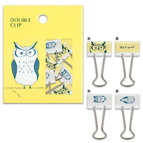 Hello Owl Ariste Binder Clips (10pcs) Mind Wave Clips