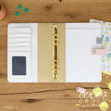 A5 Binder Only • Blush & Gold Dots Color Crush Webster's Pages • FREE WASHI TAPE