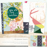 Staying Inspired Color Crush A5 Planner Inserts • Webster's Pages