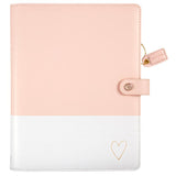 Blush & Gold Heart Composition Planner Color Crush • Free Washi Tape