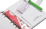 Green Diamond Personal BINDER ONLY with Password Lock • Free Washi Tape with this order