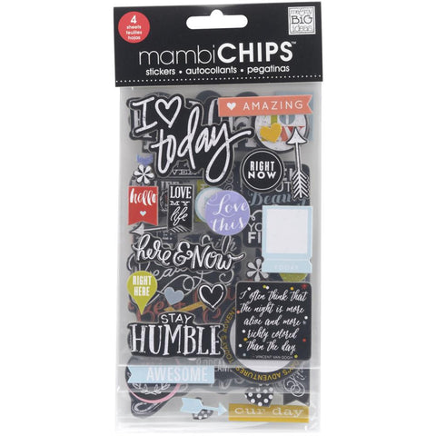 Colored Amazing Chipboard Sticker (4 Sheets) Me & My Big Ideas Chipboard Value Pack