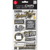 Chalk Make Me Smile Gold Sticker (4 Sheets) Me & My Big Ideas Chipboard Value Pack