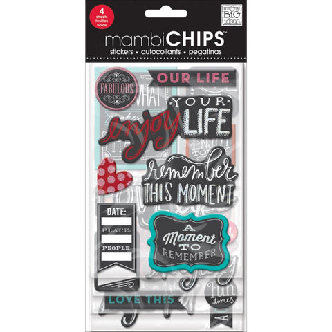 Chalk Fabulous Chipboard Sticker (4 Sheets) Me & My Big Ideas Chipboard Value Pack