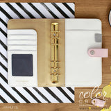 Cyber Monday Sale! Personal Binder Blush & Gold Dots Color Crush Webster's Pages
