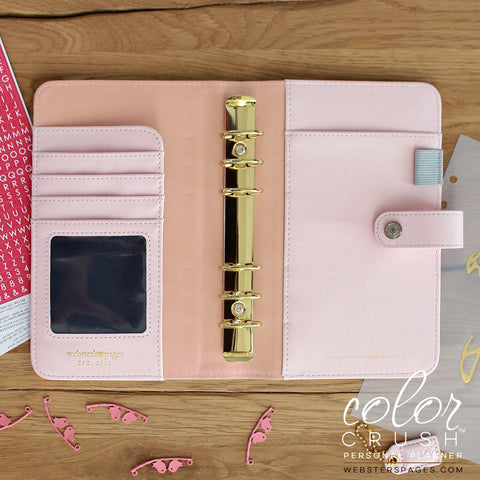 Personal Binder Platinum Rose Color Crush Webster's Pages