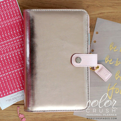 Personal Planner Kit Platinum Rose Color Crush Webster's Pages • FREE WASHI TAPE