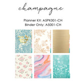 Champagne A5 Planner Kit Color Crush Webster's Pages • FREE WASHI TAPE