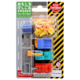 Construction Truck Pack Eraser Iwako