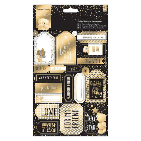 Forever Friends Classic Decadence Die-Cut Sentiments With Foil Accents 2/Pkg