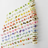 Green Flower Washi Tape Round Top Masking Tape • Yano Design Flower For Collage
