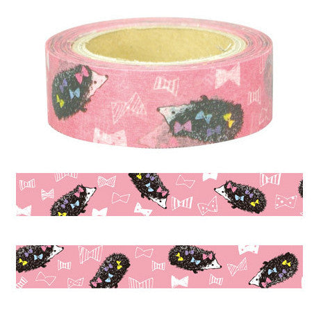 Hedgehog Masking Tape • Animal Series Japanese Washi Tape