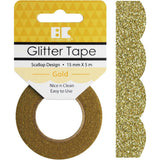 Gold Scallop Best Creation Designer Glitter Tape