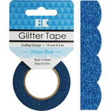 Ocean Blue Scallop Best Creation Designer Glitter Tape