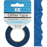 Ocean Blue Fancy Wave Best Creation Designer Glitter Tape