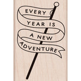 Adventure Banner Hero Arts Mounted Rubber Stamp