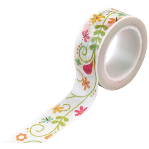 Flower Washi Tape • Ivy Floral Happy Summer Decorative Tape