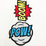 Comic Bursts Embroidered Stickers