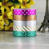 10mm Skinny Foil Washi Tape Set (5/Pkg) Thin Foil Washi Tape