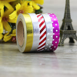 8mm Skinny Foil Washi Tape Set (5/Pkg) Thin Foil Washi Tape