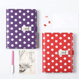 Red A5 Planner BINDER ONLY with Password Lock • Polka Dots A5 Binder