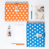 Blue A5 Planner BINDER ONLY with Password Lock • Polka Dots A5 Binder