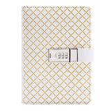 Light Gold Diamond Personal BINDER ONLY with Password Lock • Free Washi Tape with this order
