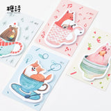 Animal in Cup Sticky Notes