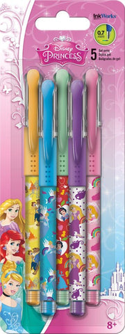 Disney Princess Colored Gel Pens 5/pk • 0.7mm Ink Works