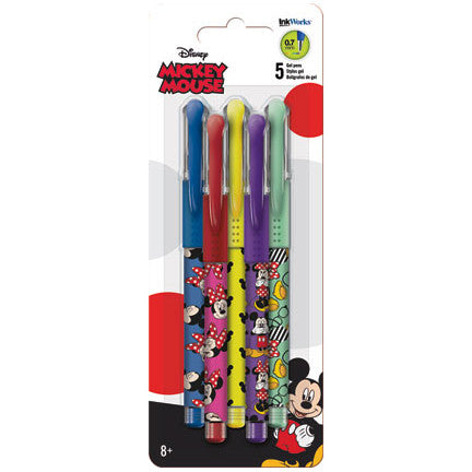 Disney Minnie Mouse Colored Gel Pens 5/pk • 0.7mm Ink Works