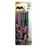 Batman vs. Superman Colored Gel Pens 5/pk • 0.7mm Ink Works