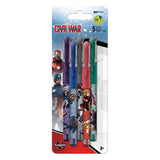 Captain America 3 Marvel Colored Gel Pens 5/pk • 0.7mm Ink Works