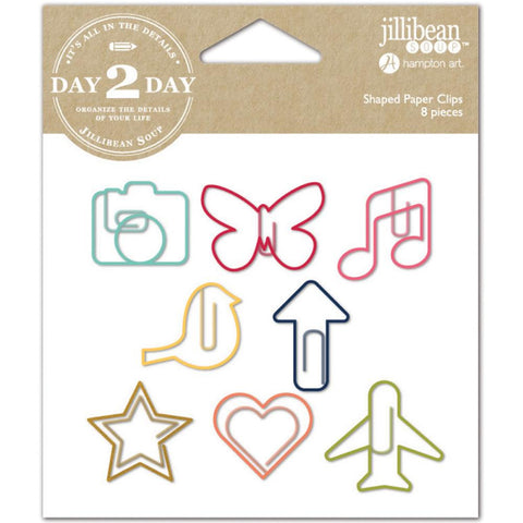Everyday Day 2 Day Planner Shaped Clips 8/Pkg • Jillibean Soup