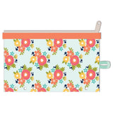 "Orange Floral Day 2 Day Planner Zipper Pouch 5""X8"" A5 Planner • Jillibean Soup"