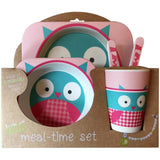 Owl Bamboo Fiber Kids Plate Set • Sustainable Bamboo Fiber Toxic-Free