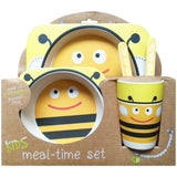 Bumble Bee Bamboo Fiber Kids Plate Set • Sustainable Bamboo Fiber Toxic-Free