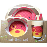 Puppy Bamboo Fiber Kids Plate Set • Sustainable Bamboo Fiber Toxic-Free