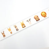 Friend Little Animal Round Top Masking Tape • Ratako