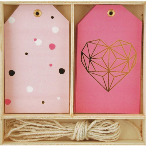 Geo Heart Lucky Dip Gift Tags 12/Box