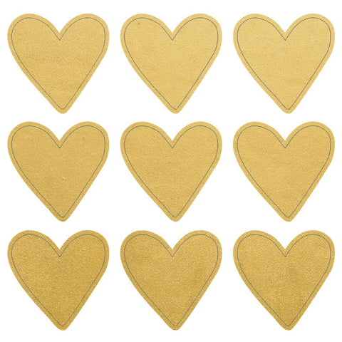 "Gold Hearts Lucky Dip Foil Stickers 4""X4"" 3 Sheets/Pkg"